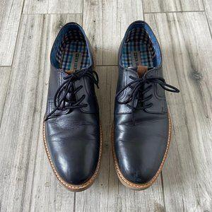BEN SHERMAN Leather Dress Lace Up Oxford Shoe 10.5